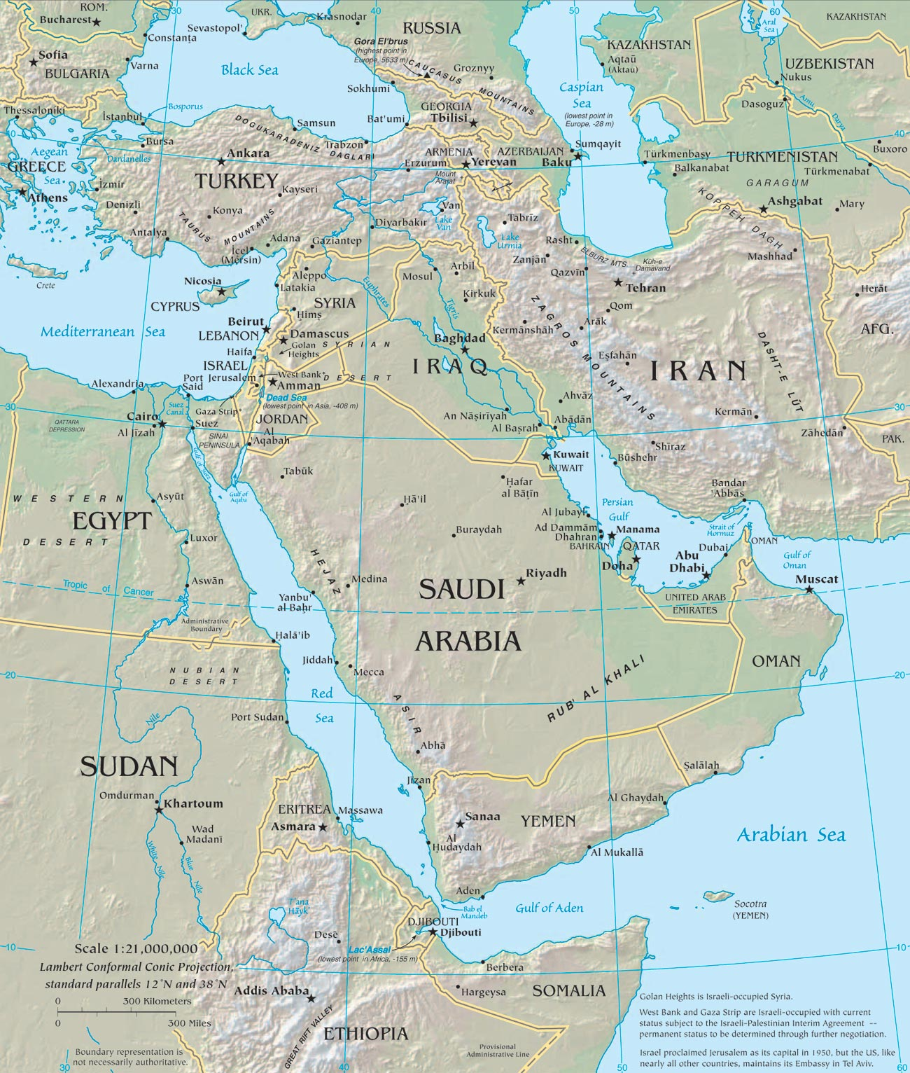 Geographicguide Netasiamiddle Easthtm Middle East Map What Song The Sirens Sang