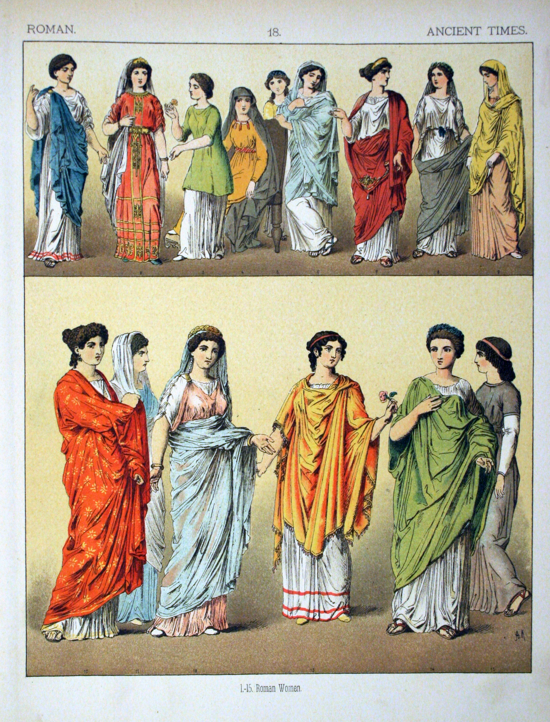 Ancient_Times_Roman._-_018_-_Costumes_of_All_Nations_(1882). Ancient Times Roman- Costumes ... & Womenu0027s Fashion in the Roman World | What song the Sirens sang . . .