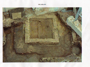 Celtic temples were derived from Greek temple design. This is the excavation site of a Celtic temple.