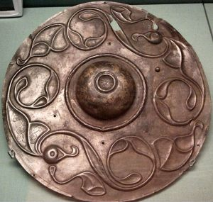The abstract patterns on this sheild are typical of the design motifs during the La Tène period.