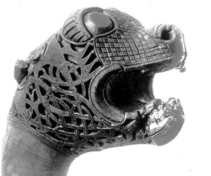 Viking-Oseberg-Lion-Head